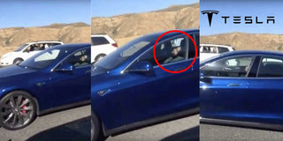 Driver caught sleeping at the wheel as Tesla Autopilot drives for him