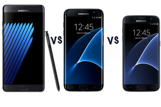 Samsung Galaxy Note 7 vs Galaxy S7 edge vs Galaxy S7: What's the difference?