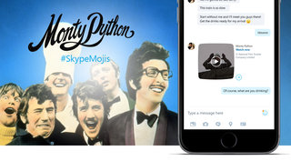 No one expects the Spanish Inquisition, and no one expected Monty Python in Skype
