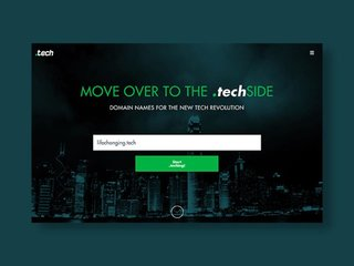 Join the tech revolution: a 10-year '.tech' domain subscription is now 80 per cent off