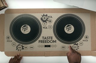 Pizza Hut in UK made a playable DJ pizza box and will give them out