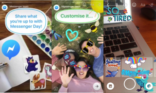 facebook s messenger day feature is a snapchat stories copycat image 2