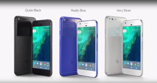 Google Pixel mocks iPhone with 'Quite Black', 'Very Silver' and 'Really Blue' colours