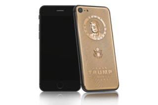 What better way to celebrate global madness than a $3K gold Trump iPhone