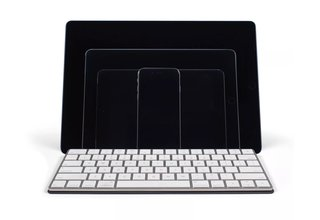 this case turns into a full size keyboard stand for your ios device image 2