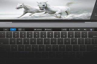 You can now use Photoshop with the MacBook Pro Touch Bar