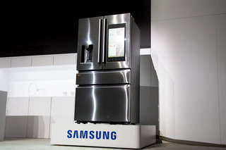 samsung family hub 2 0 refrigerator preview spotify and sausages pocket lint. Black Bedroom Furniture Sets. Home Design Ideas