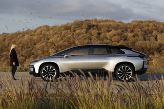 Faraday Future's first production car, FF 91 hits the road in 2018