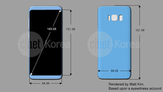 Leaked drawings show Samsung Galaxy S8 with a rear-mounted fingerprint scanner