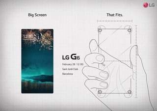 LG teases LG G6 bezel-less phone in official MWC 2017 event invite