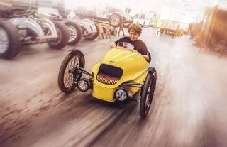 Morgan made a £6,660 kid version of its all-electric EV3 vehicle