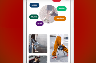 Pinterest Lens uses a camera to search items around you in real time