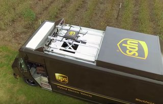 Watch UPS test its new delivery van that spits out parcel-carrying drones