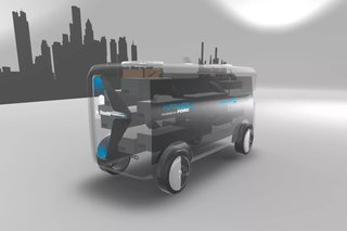Ford wants its electric self-driving delivery vans to launch drones