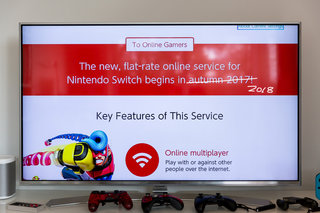 Nintendo Switch online subscription service delayed until 2018