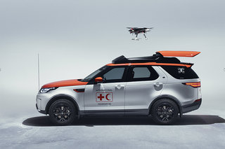 Red Cross Land Rover Discovery can dispatch a drone to save lives