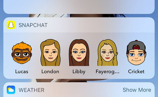 Snapchat Widget: How to add Bitmoji chat shortcuts to your home screen