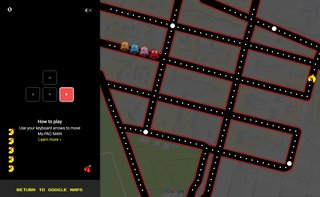 Google Maps is a Ms. Pac-Man arcade game for April Fools' Day