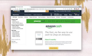 Amazon Cash: Here's how to shop online without a bank card