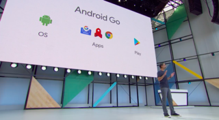 What is Android Go, what does it feature, and which devices run it?