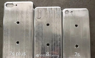 This is the size of the iPhone 8, next to iPhone 7s and 7s Plus