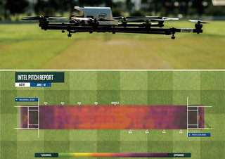 "Intel will present ""the future of cricket"" at the ICC Trophy. Drones, bat sensors, VR and more"