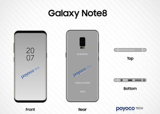 These Galaxy Note 8 images allude to on-screen fingerprint sensor and dual-lens camera
