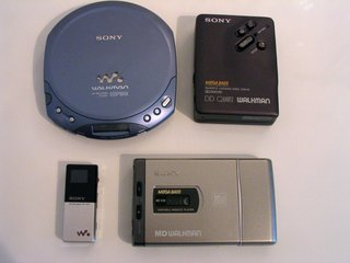 Walkman, Discman and MP3 players