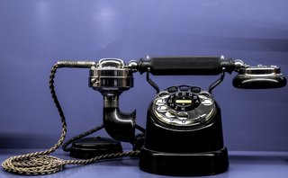 Rotary telephones and wired landlines