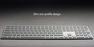 Microsoft Modern Keyboard is a sleek slab of aluminium with a built-in fingerprint sensor