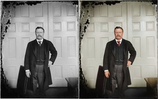 Colourised photos from history image 47