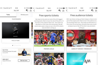 Sky VIP rewards customers with free tickets and priority service
