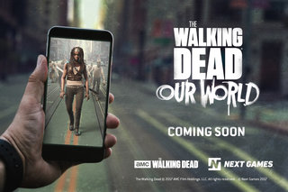 This Pokemon Go-like Walking Dead game lets you kill zombies in real life