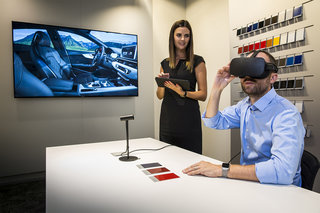Audi has now made it possible to see your new car in VR before it's made
