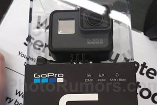 GoPro Hero 6 action camera pictured in leaked retail box with key specs