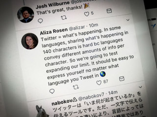 Twitter trials 280 character limit, but you can do it yourself with this great hack