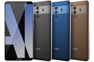 Huawei Mate 10 Pro shows its colours in official render