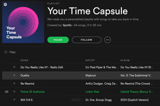Spotify launches Your Time Capsule playlist of personalised throwback tunes
