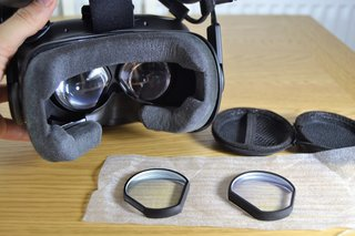 how to clean htc vive lens