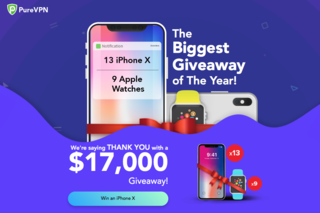 Win an iPhone X with PureVPN