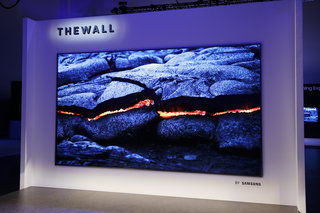 samsung's microLED modular TV The Wall