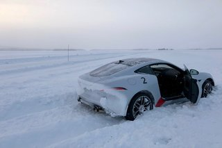 Driving on ice at the JLR Ice Academy on the edge of the arctic circle image 4