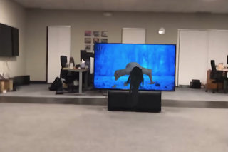 Watch that creepy girl from The Ring crawl out from a TV in AR