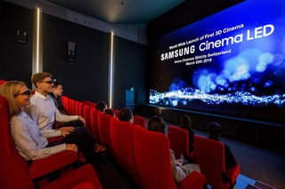 Samsung's 3D Cinema LED screen gets its world debut in Switzerland