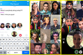 Snapchat rolls out group video chat and @ mentions (about time, too)