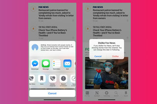 How to blacklist news sources in Apple News on iOS devices