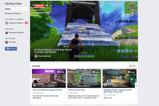 What is Facebook's new game streaming hub and how does it work?