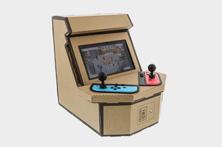 This Labo-style cardboard kit turns your Switch into an arcade cabinet