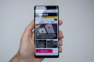 Samsung Galaxy Note 9 front panel shows up, notch-free