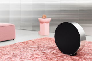 Bang & Olufsen Beosound Edge is a speaker unlike any other, roll it to change volume